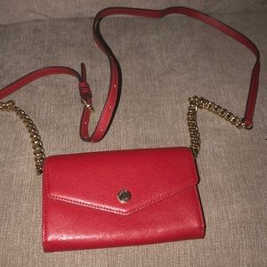 Red Michael Kors chain purse